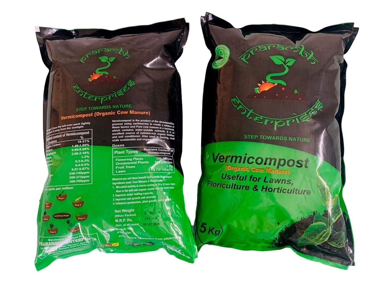 Vermicompost (5kg) (Made of 100% Organic Cow Manure with neem Leaves Base)