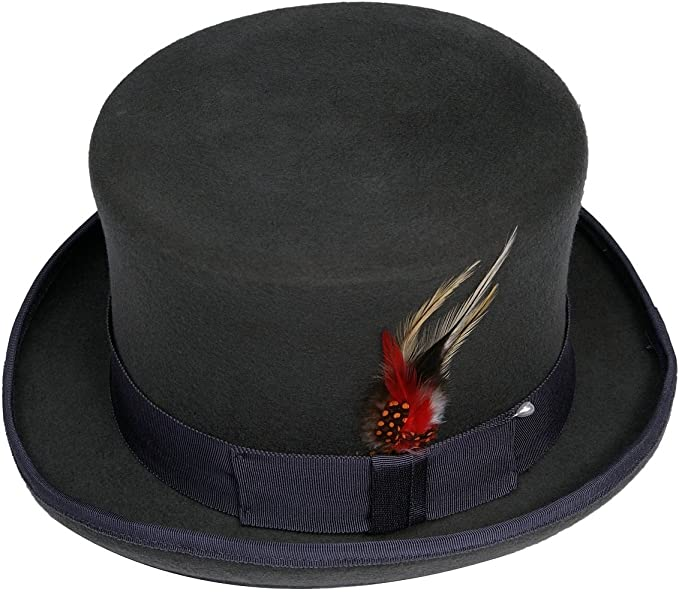 GREY TOP HAT NEW WOOL