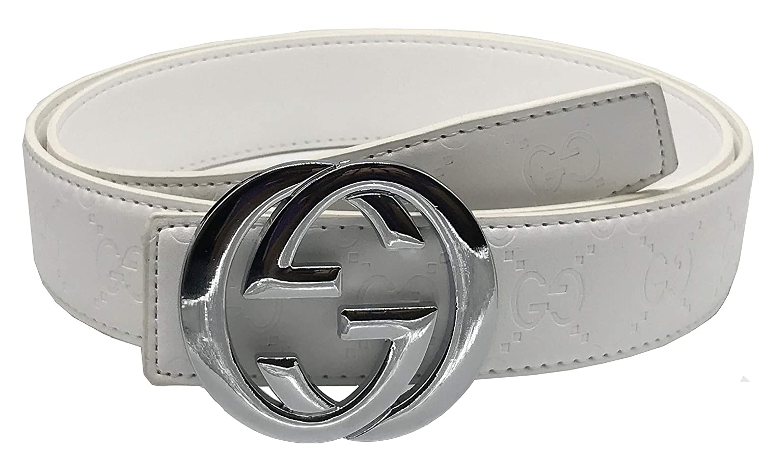 Fashion-Sir88:Fashion leather G belt buckleStyle unisex Business Casual Belt