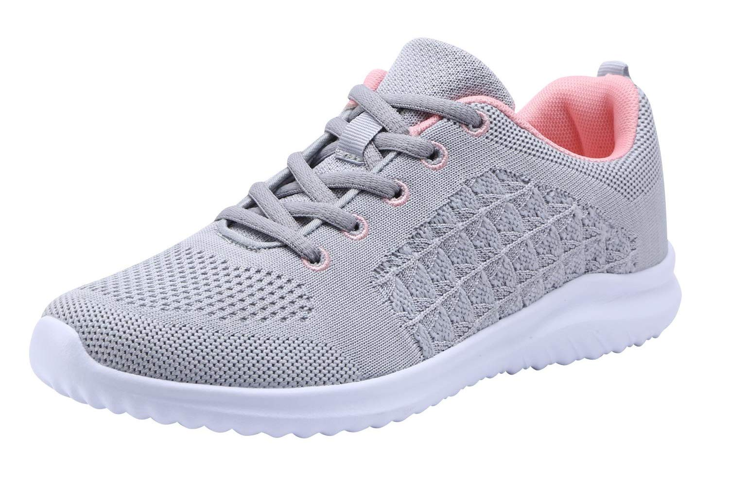 YILAN Girl's & Women's Fashion Sneakers Casual Sport Shoes (9 B(M) US, New Grey-5)