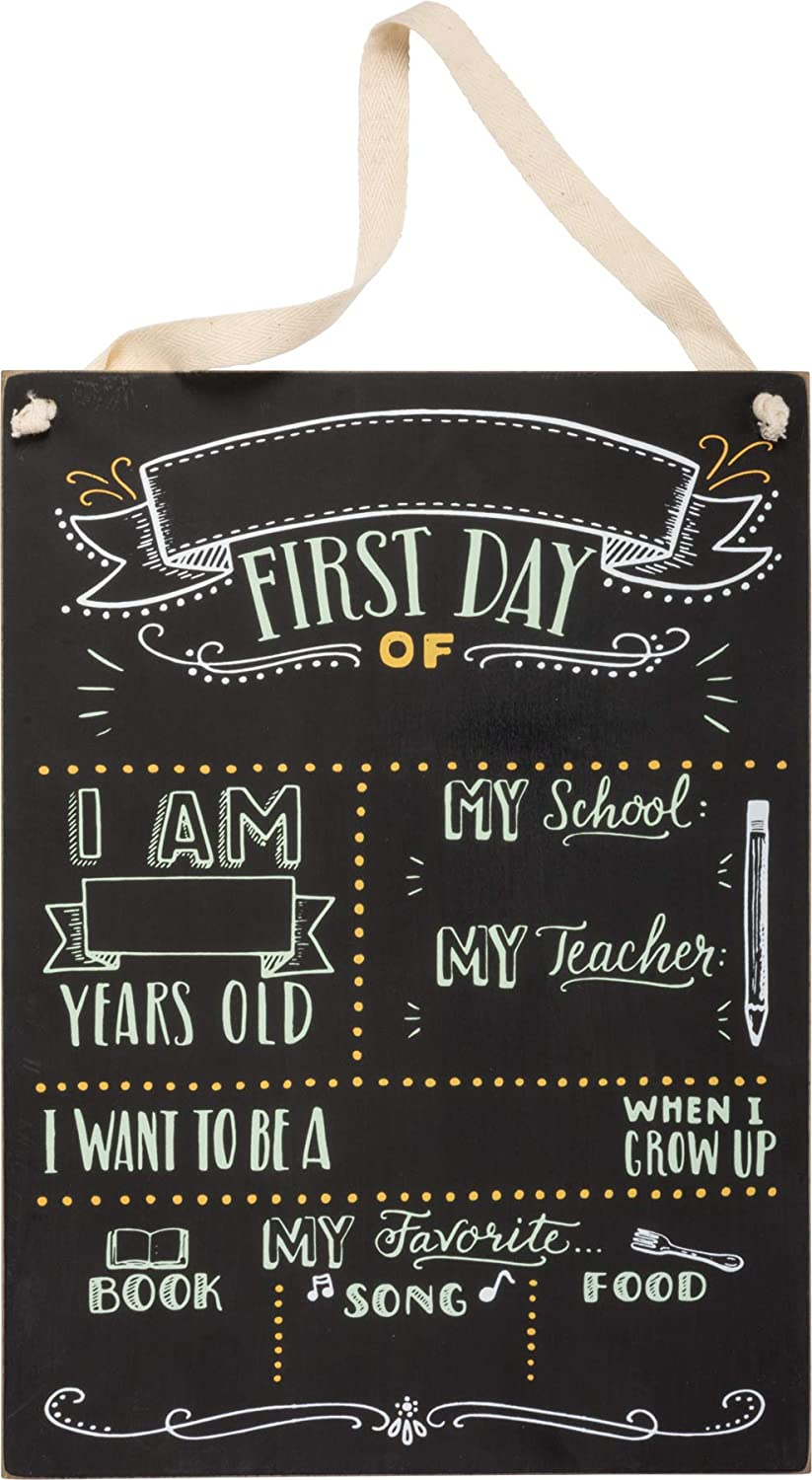 """Primitives by Kathy Kids Milestone Chalkboard Sign, 9.5"""" x 13"""", My First Day of School"""