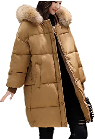 YOJAP Damen Herbst Winter Jacke Damen Warmer Wintermantel