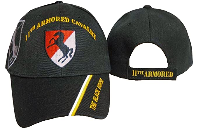 11th Armored Cavalry Regiment Baseball Cap Black Horse 11th ACR Hat ... b194e3404bf