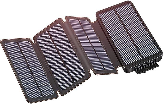 IXNINE - Cargador solar con 4 paneles solares para smartphones ...