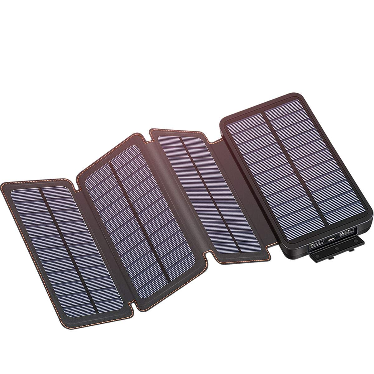 Solar Charger 25000mAh, IXNINE Solar Power Bank with 4 Solar Panels for Smartphones, Tablet, and Outdoor Camping by IXNINE