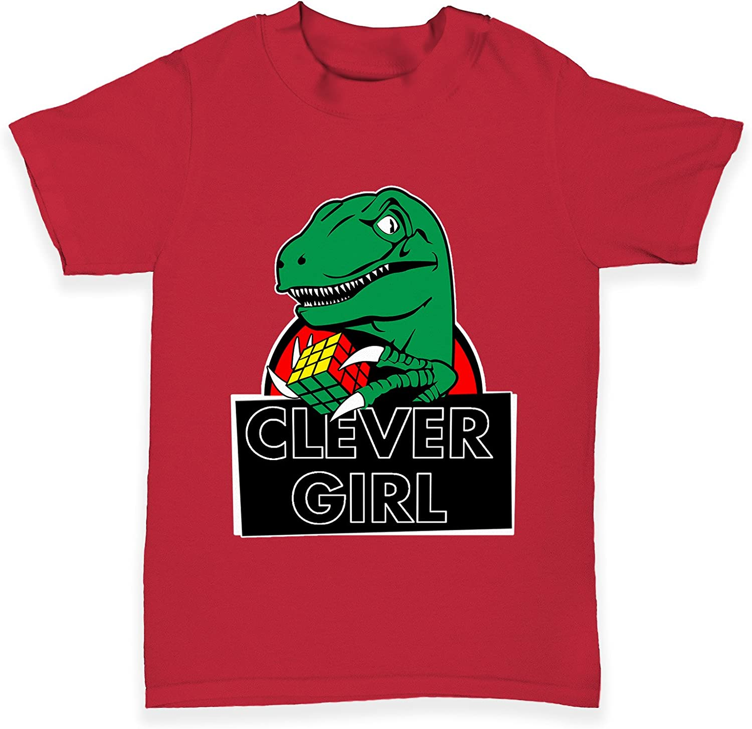 TWISTED ENVY Clever Girl Dinosaur Baby Toddler Funny T-Shirt