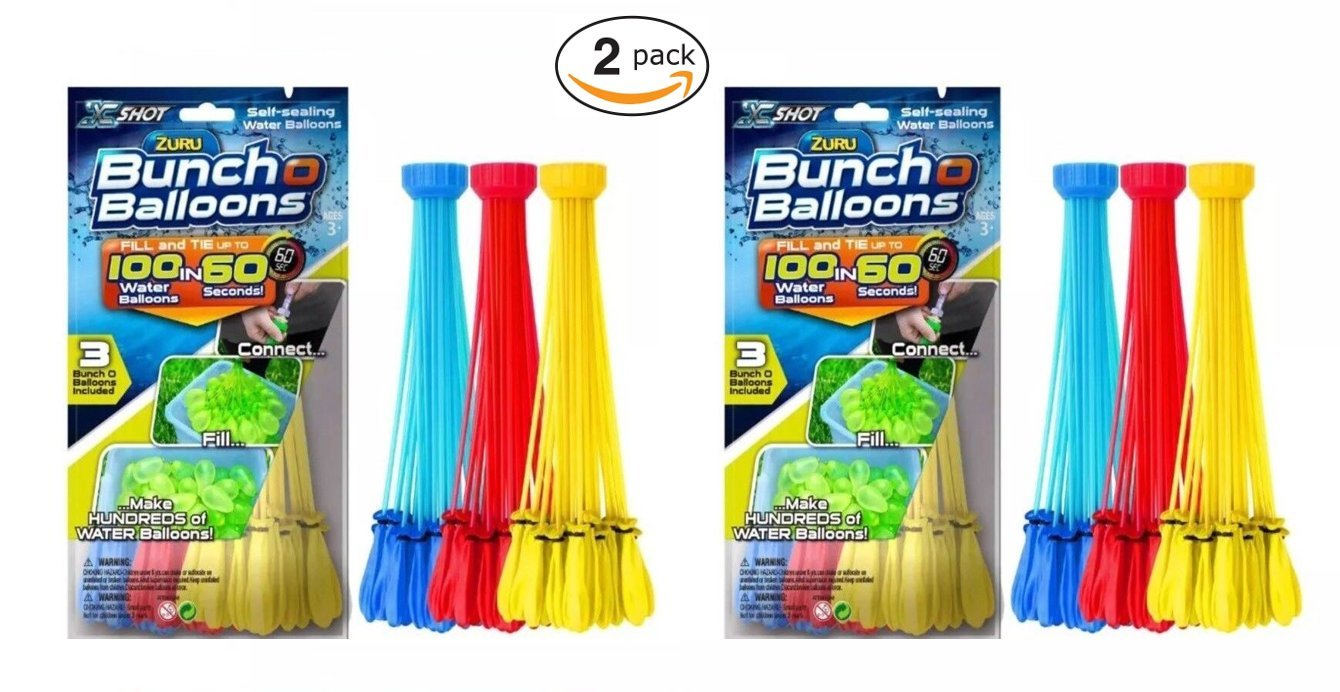 Zuru Instant Water Balloons - Color Vary (6 Bunches - 200 Total Water Balloons)