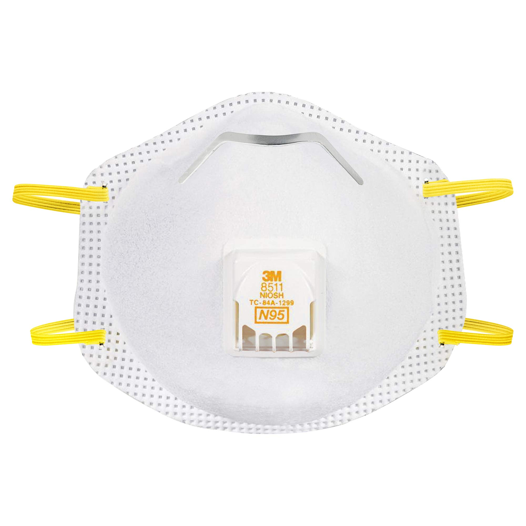 3M 8511 Paint Sanding Valved N95 Cool-Flow Respirator, 10-Pack