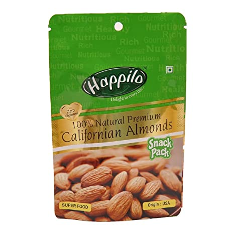 HappiloPremium 100% Natural Californian Almonds, 35g