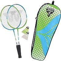 Talbot Torro Set de Badminton 2-Attacker Junior Jeunesse Unisexe, Vert-Cyan, Taille Unique