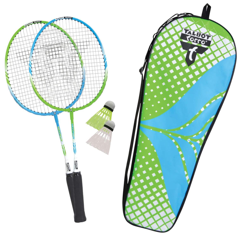 Verde Ciano Talbot Torro Unisex Jugend Badminton Set 2 Attacker Junior Federball Taglia Unica