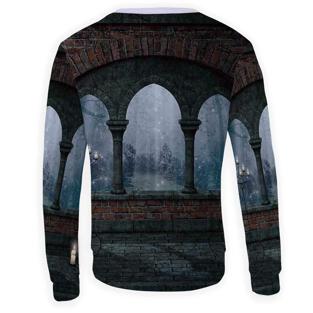 MOOCOM Mens Gothic Decor Crewneck Sweatshirt-Unisex