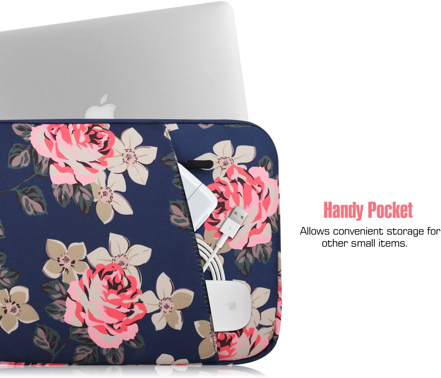 Surface Book//Surface Laptop 13.5 Waterproof Canvas Briefcase Bag Peony MacBook Pro 13 2016-2019 A2159 A1989 A1708 MoKo 13-13.5 Inch Laptop Sleeve Bag Fits MacBook Air 13-inch Retina 2020-2016