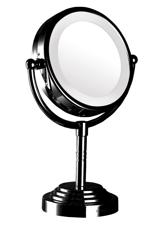 Amazon com   Modern Mirror 92231 Dual Sided Led illuminated tabletop makeup  mirror Black   Beauty. Amazon com   Modern Mirror 92231 Dual Sided Led illuminated