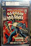 Marvel Super-Heroes #13 PGX 1st Appearance of Carol Danvers AKA Ms. Marvel 2nd Appearance of Captain Marvel (Avengers, Guardians of the Galaxy) MOVIE SOON
