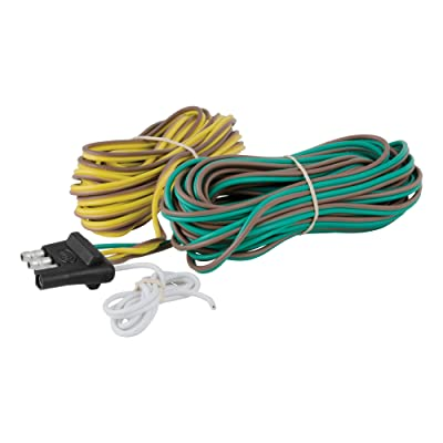CURT 57220 Trailer-Side 4-Way Trailer Wiring Harness with 20-Foot Wires, 4-Pin Trailer Wiring: Automotive