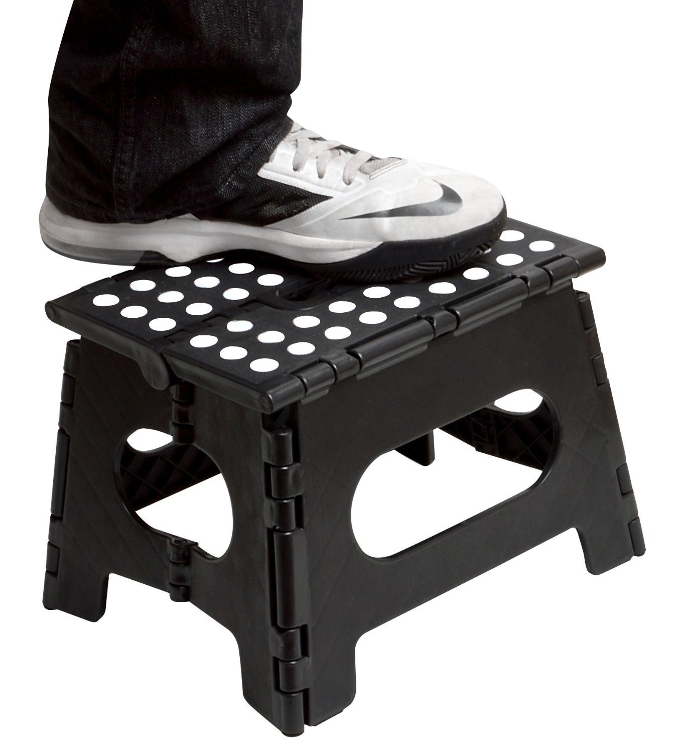 Amazon.com Folding Step Stool - 11  Wide - The Lightweight Step Stool is Sturdy Enough to Support Adults and Safe Enough for Kids.  sc 1 st  Amazon.com & Amazon.com: Folding Step Stool - 11