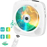 Wall Mountable CD Player wowatt Portable CD Player Bluetooth Home Audio Boombox Rechargeable 4000mAh Battery CD Music Player HDMI Built-in HiFi Speakers FM Radio USB SD Card 3.5MM Headphone w/Remote