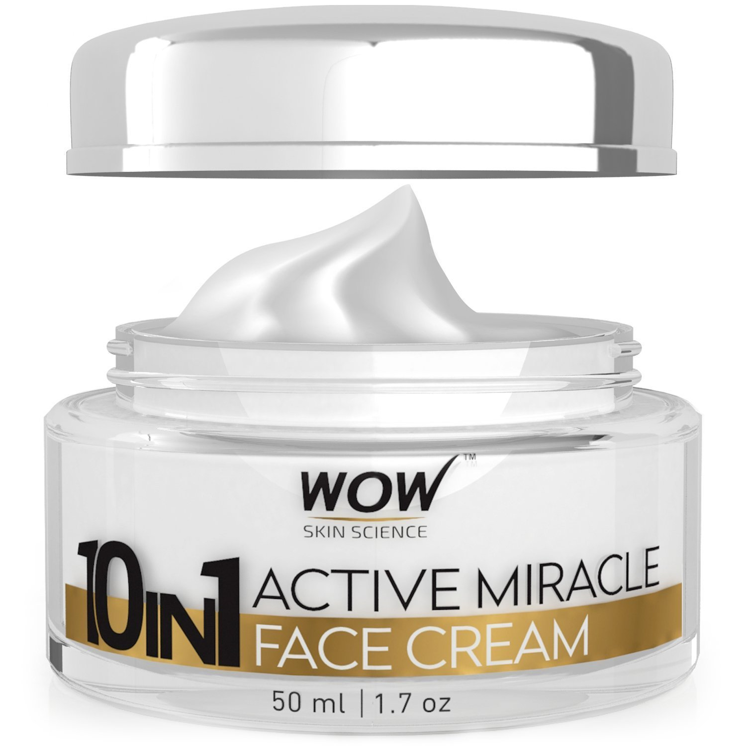 WOW 10 In 1 Active Miracle Day Face Cream, 50Ml
