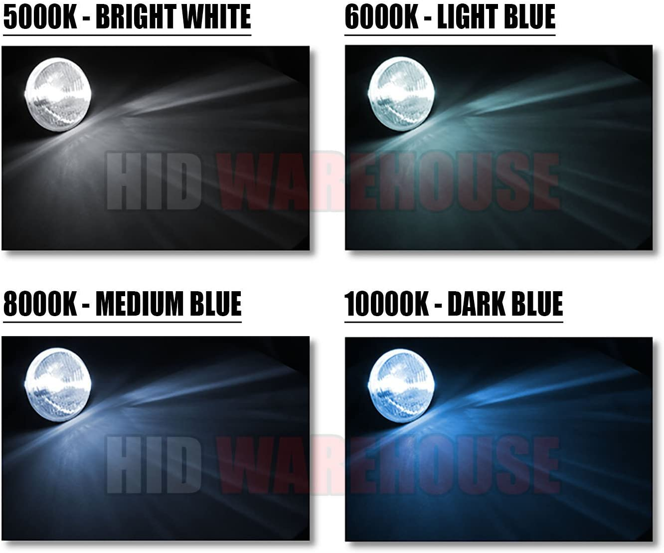 HID-Warehouse HID Xenon Replacement Bulbs - 2 Year Warranty Bright White H10 // 9140 5000K 1 Pair