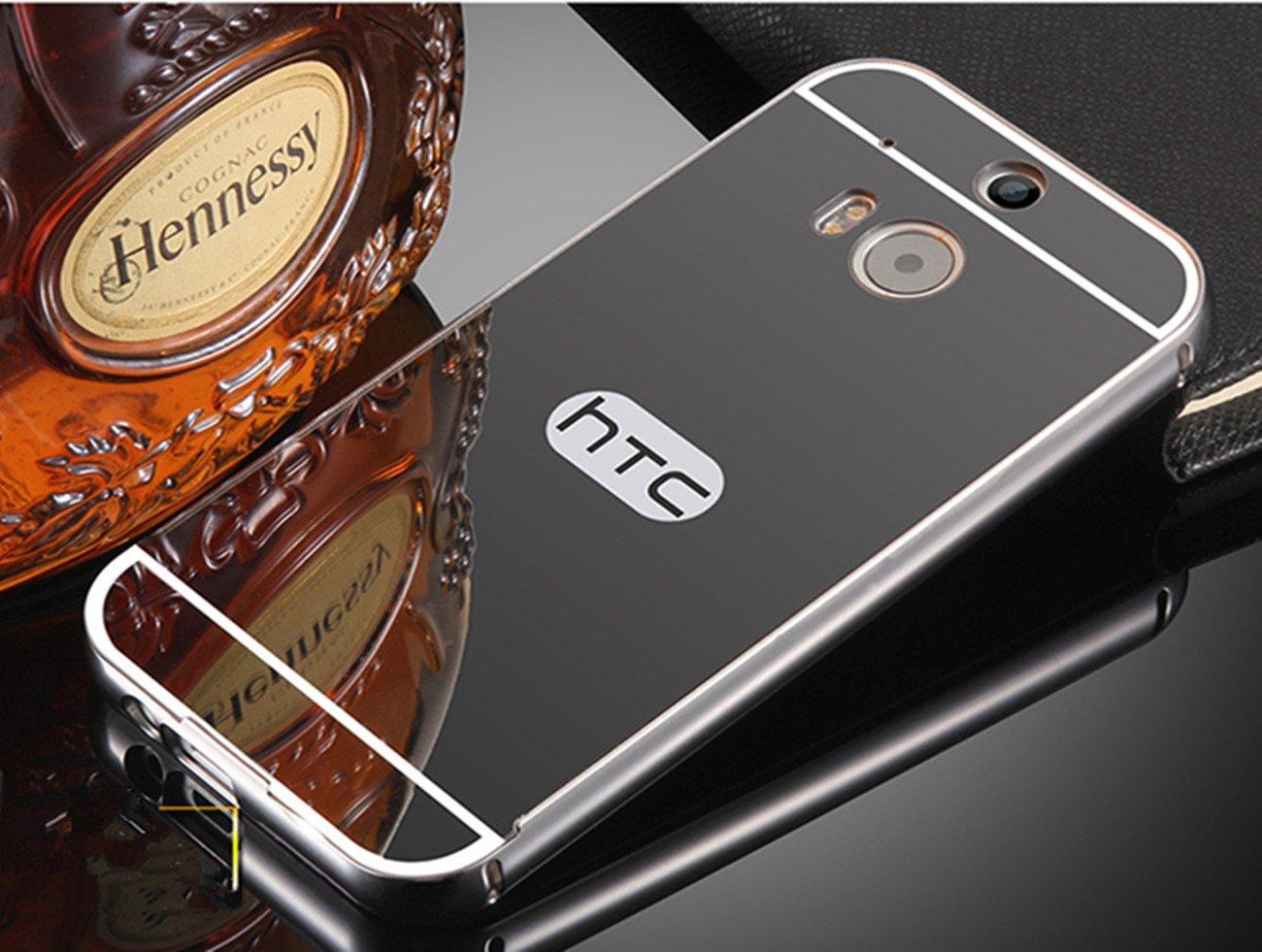 PANXYUE Carcasa HTC One M8 Aluminio Espejo Plateada - Funda ...