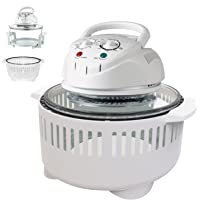1400W Halogen Oven Healthy Cooking Extending Convection Cooker 12-17L with Accessories and Protective Basket