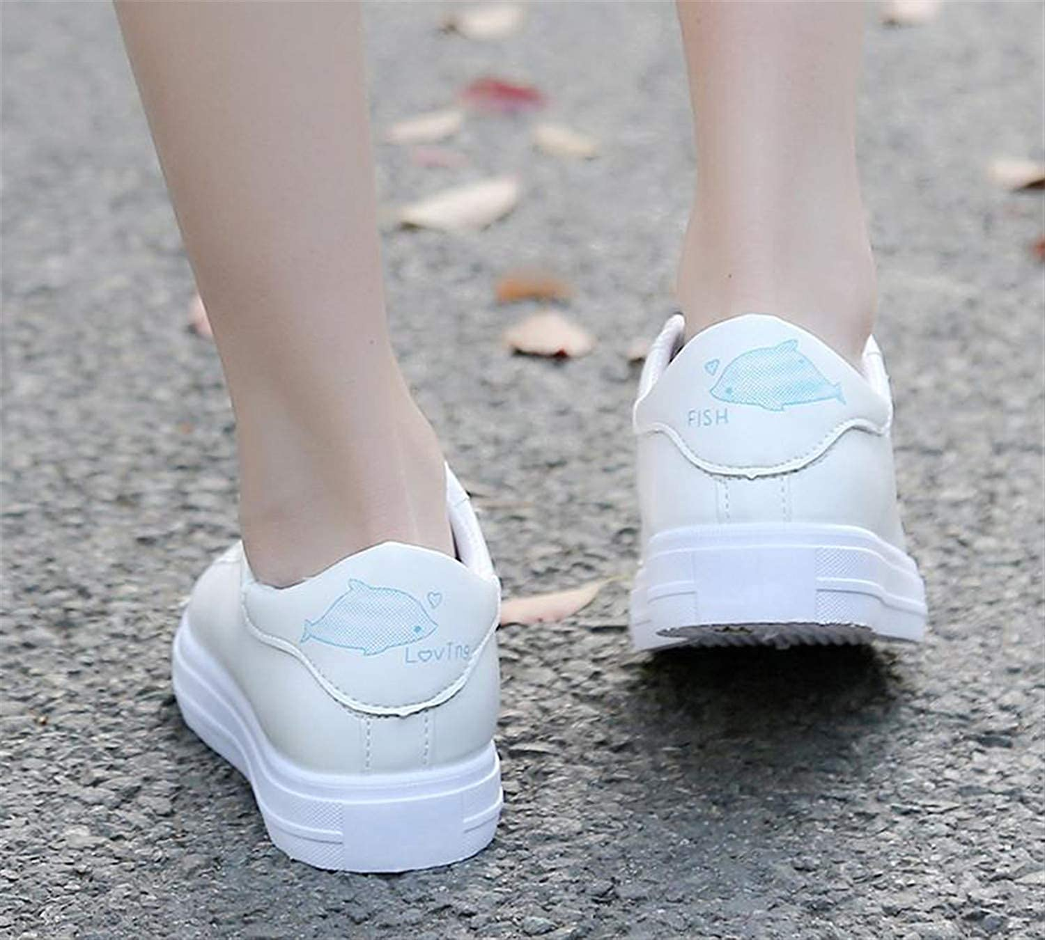 Haiyinqux Women Vulcanization Shoes Brand Woman Breathable Casual Flats White Shoes Sneakers