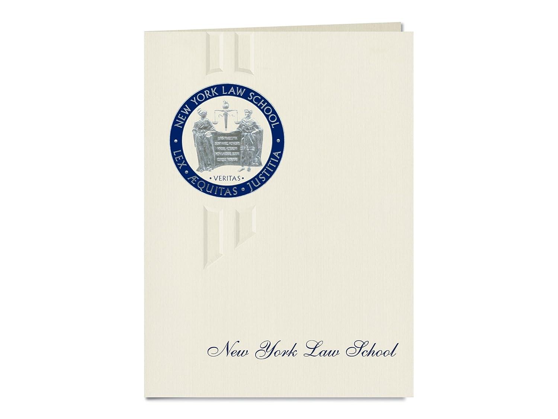 Signature Ankündigungen New York Law School Graduation Ankündigungen, eleganten Stil, Elite Pack 20 mit New York Law School Dichtung Folie