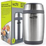 Home Puff Double Wall Vacuum Insulated Stainless Steel Food Jar, 580 ml, Grey