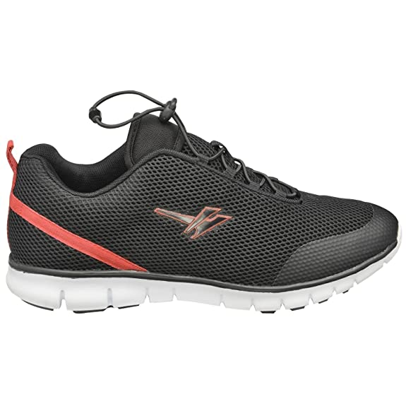 Gola Men's Trainers Casual Shoes Flat Sports Gym Trainers Active Extreme Lightweight Running Sports Shoes Black and Red Size 7, Size 8, Size 9,Size 10, Size 11 Men's Running Shoes at amazon