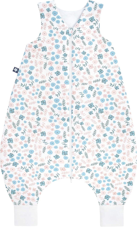 Julius Zöllner 9112769280 Summer Jumper - Saco de Dormir para Verano con piernas (0,5 TOG, 92/18-36 Meses), diseño de Flores, Multicolor