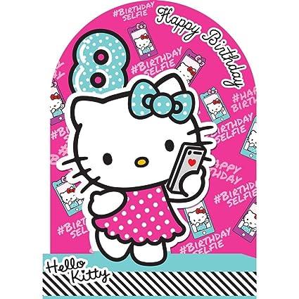 Hello Kitty 8th Tarjeta de cumpleaños: Amazon.es: Oficina y ...