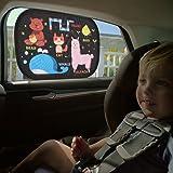 IntiPal Selbsthaftende Sonnenblenden Sonnenschutz Auto Baby Kinder 2er Pack