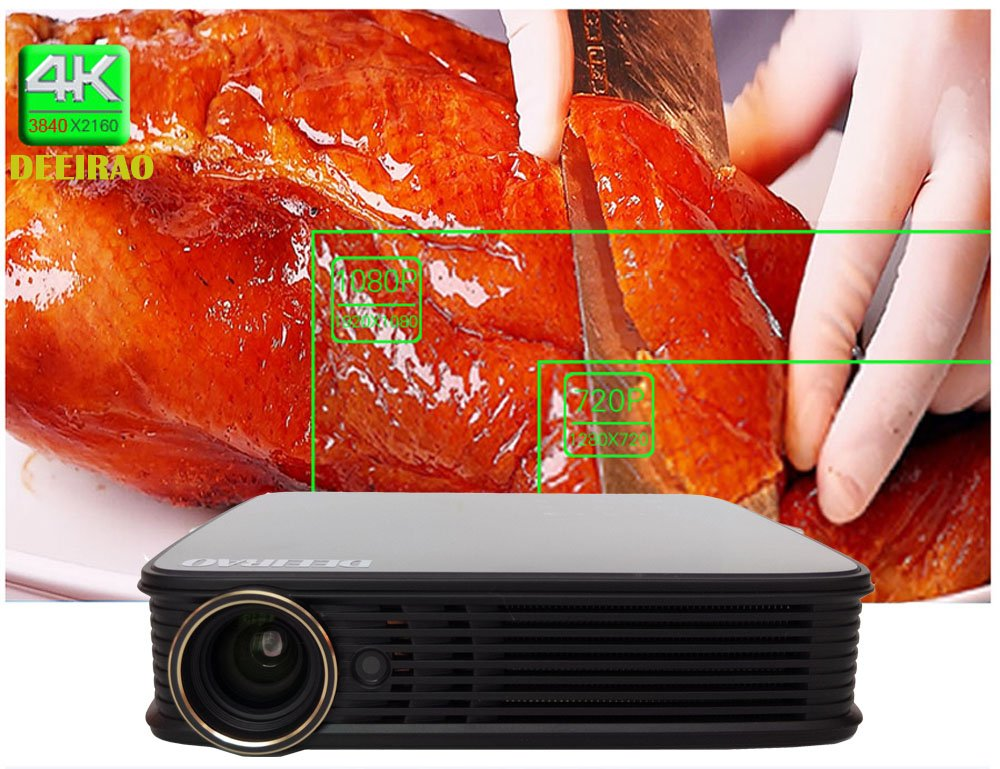 WiFi DLP 3D Proyector Portable 1280x800 Resolución Nativa Soporte ...