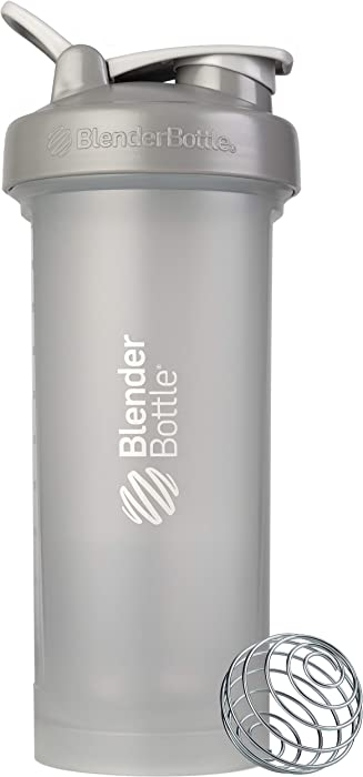 BlenderBottle Classic V2 Shaker Bottle, 45-Ounce, Pebble Grey