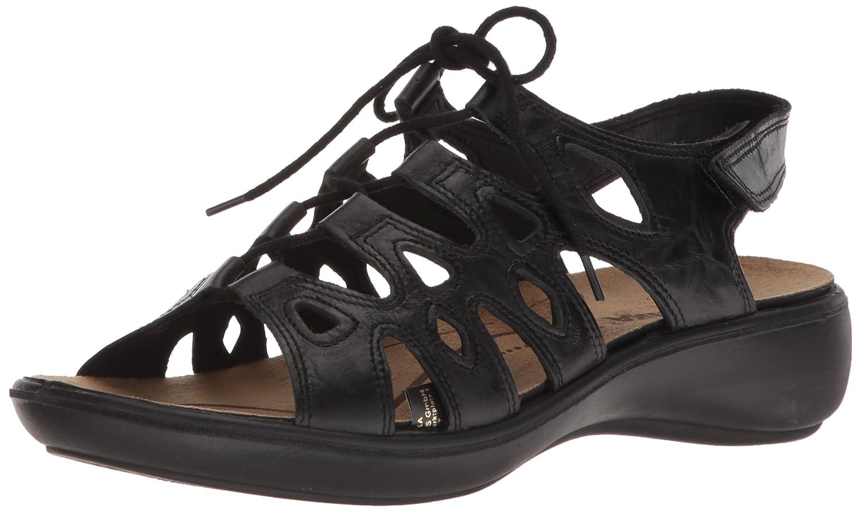 Romika Women's Ibiza 77 Flat Sandal B074G7L9HW 38 M EU (7-7.5 US)|Black