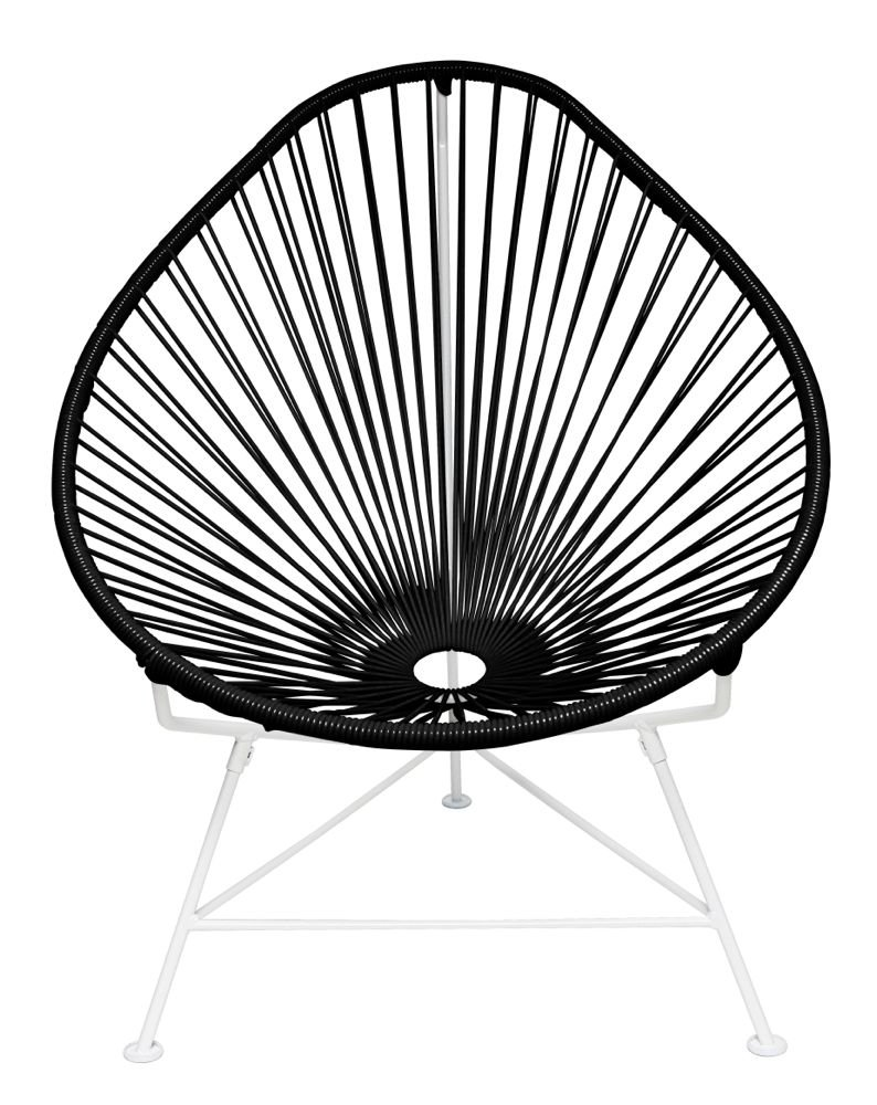 Amazon.com : Innit Designs Baby Acapulco Chair, Yellow Weave On Black Frame  : Patio Lounge Chairs : Garden U0026 Outdoor