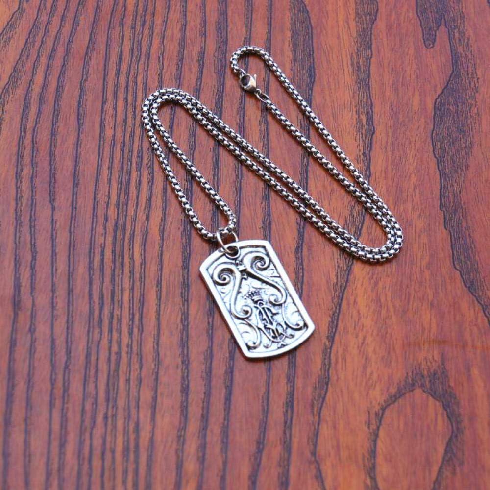 Collar Colgante Joyería Hombres Punk Cadenas De Acero Inoxidable Collar Cuadrado Pareja Moda Calle Hip Hop Collares Pendientes De Metal Geométrico para Mujeres