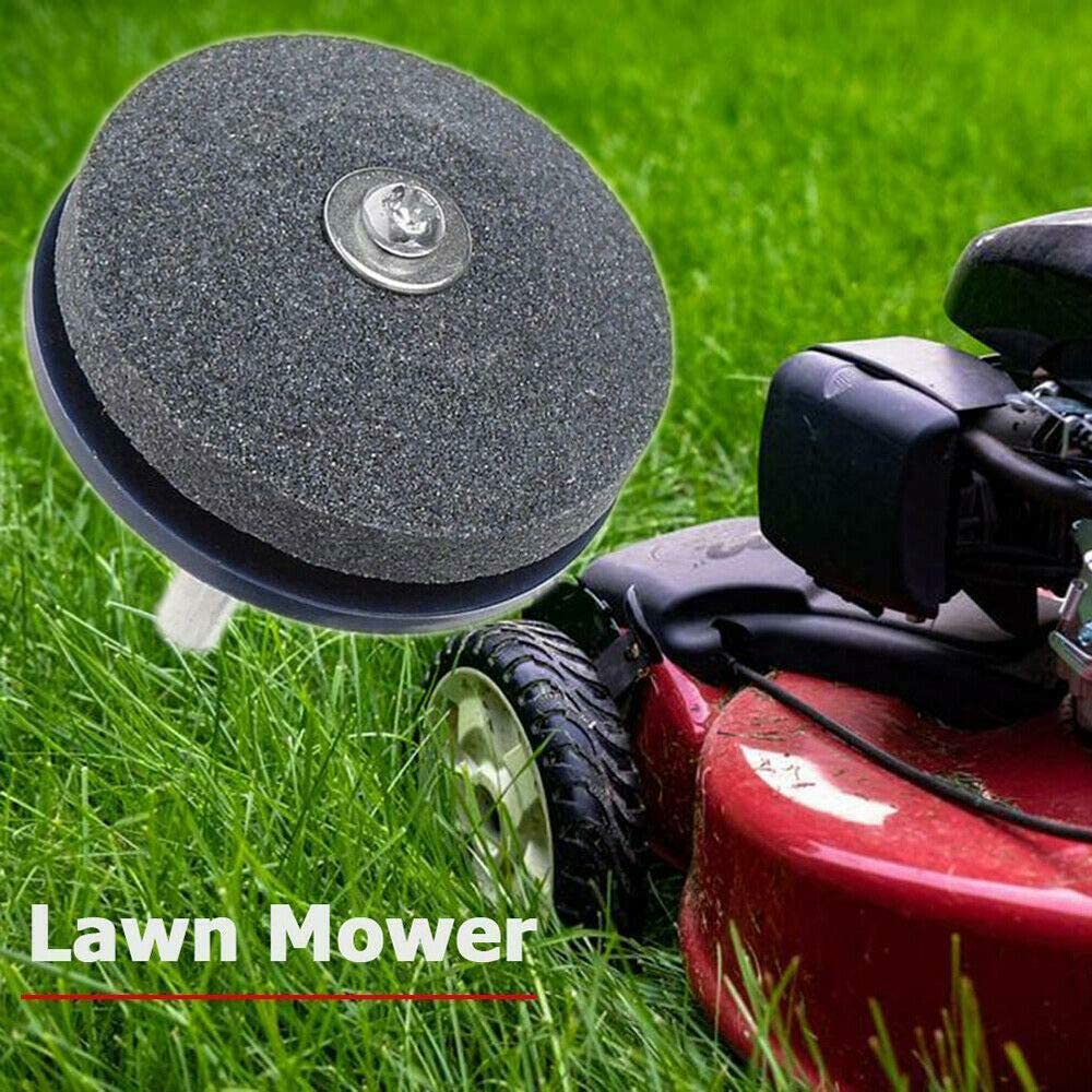 4Pcs Lawnmower Blade Sharpener Universal Garden Lawn Mower Tool Drills Fast Kits