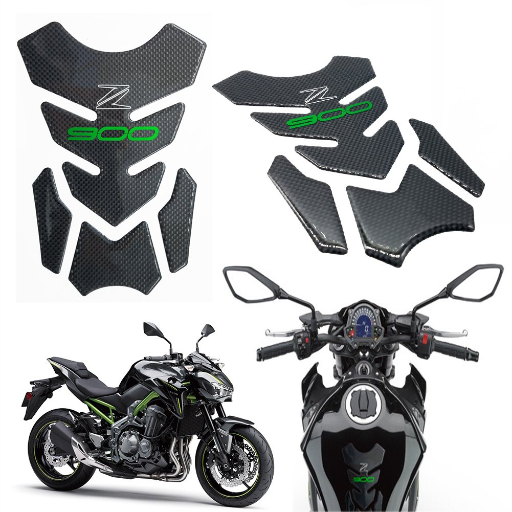 Motorcycle accessories Sticker Real Carbon Fiber Fuel Gas Tank Protector Pad For Kawasaki Z900 2017 UP by Decor Season