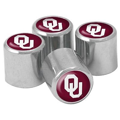 NCAA Oklahoma Sooners Metal Tire Valve Stem Caps, 4-Pack: Sports & Outdoors