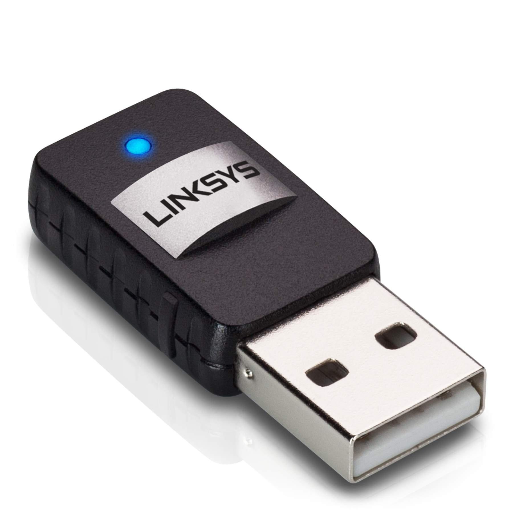 Linksys Wireless Mini USB Adapter AC 580 Dual Band (AE6000) by Linksys