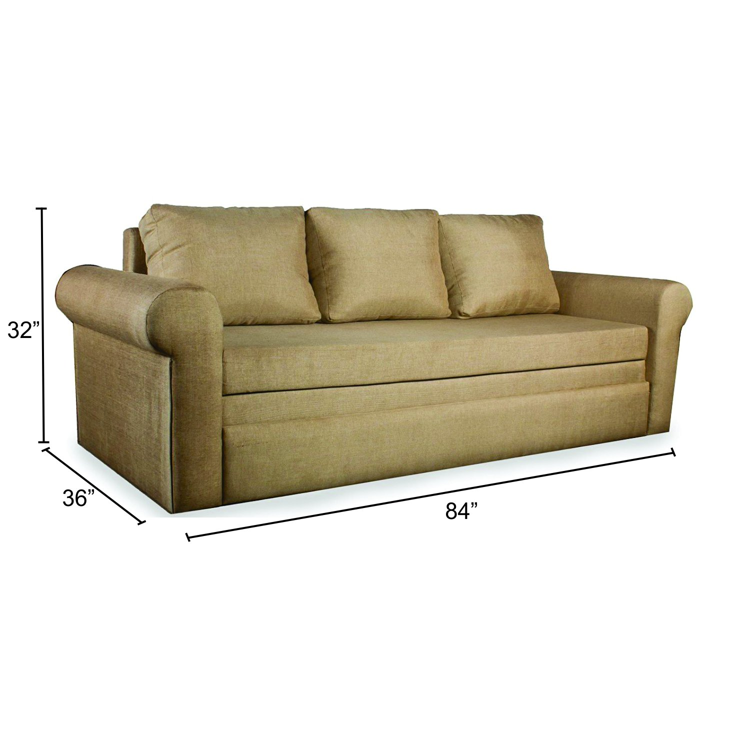 Mubell Kobi Sofa Cum Bed 7 Feet Wide Custom Upholstery Available
