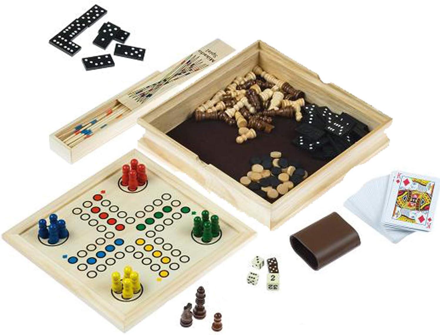 Engelhart - Estuche clásico de Madera para Juego de Mesa - 340102: Amazon.es: Juguetes y juegos