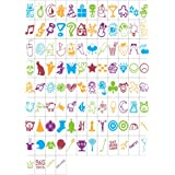 MagiGlow 100 Pastel Colour Special Decorative Symbols for Use with Cinematic Light BOXES, Plastic,