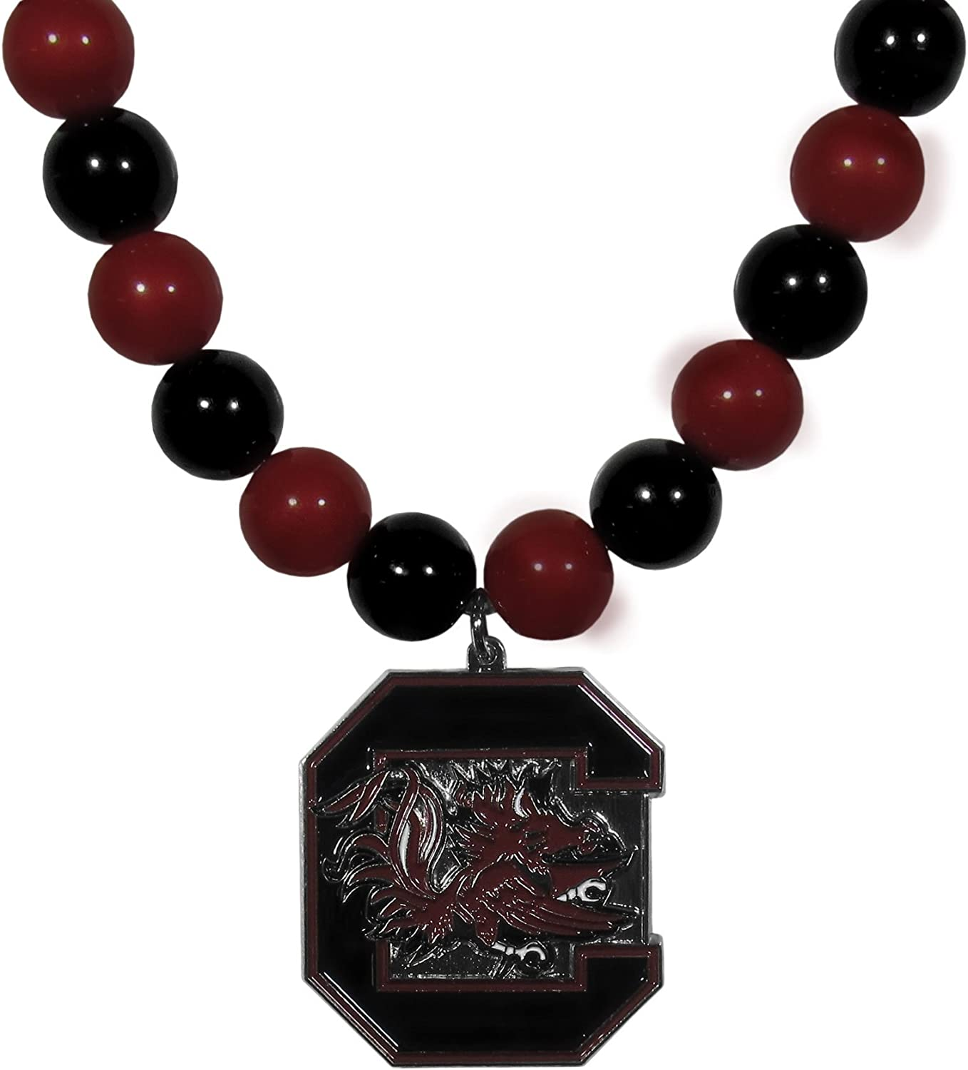NCAA Siskiyou Sports Womens South Carolina Fighting Gamecocks Fan Bead Necklace 24 inch Team Color