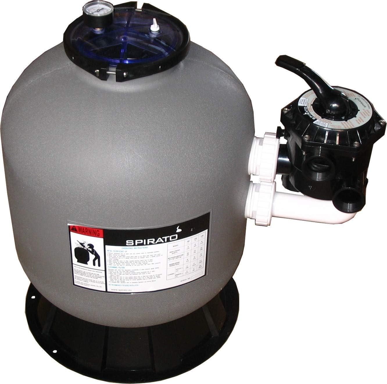 SPIRATO Filtro de arena 500 para piscina, caldera sin bomba con válvula lateral.