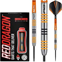 Red Dragon Amberjack 3: 22g Tungsten Steel Darts Set with Flights, Shafts, Wallet, Checkout Card