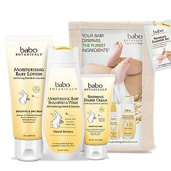 Babo Botanicals set de 3 piezas esenciales para recién nacido, el ...