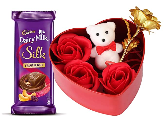 Saugat Traders Valentine Gift For Girlfriend Dairy Milk Silk Fruit Nut Chocolate With Gift Box Love Gift For Girlfriend Wife Fiancee Friend Girls Amazon In Grocery Gourmet Foods